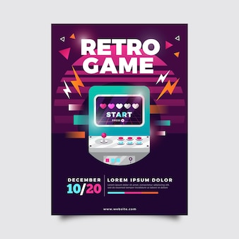 Retro gaming poster illustration