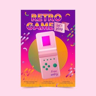 Шаблон ретро игрового плаката