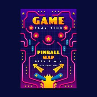 Шаблон ретро игрового плаката Premium векторы