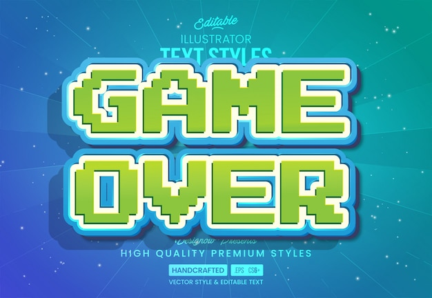 Retro gaming text style