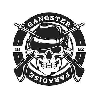 Retro gandster logo