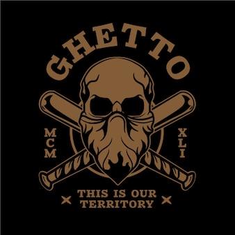 Ретро гандстер логотип