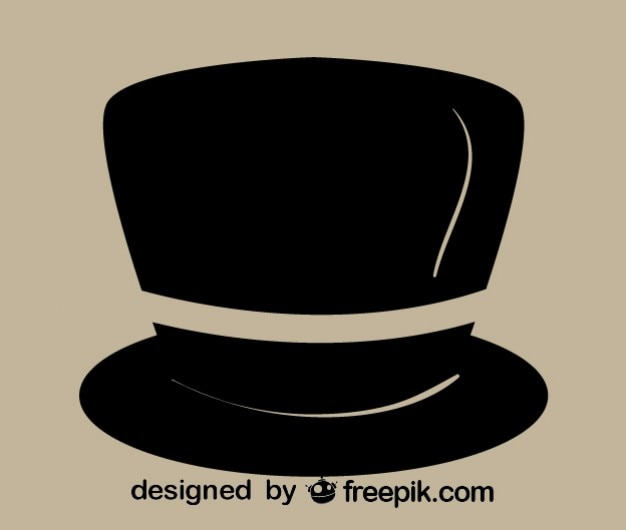 Retro gentleman hat icon