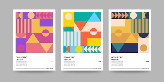 Retro geometric cover abstract