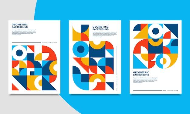 Ретро геометрическая обложка шаблон коллекции