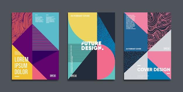 Retro geometric covers set