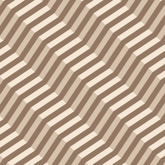 Retro geometric diagonal zigzag seamless pattern - vector