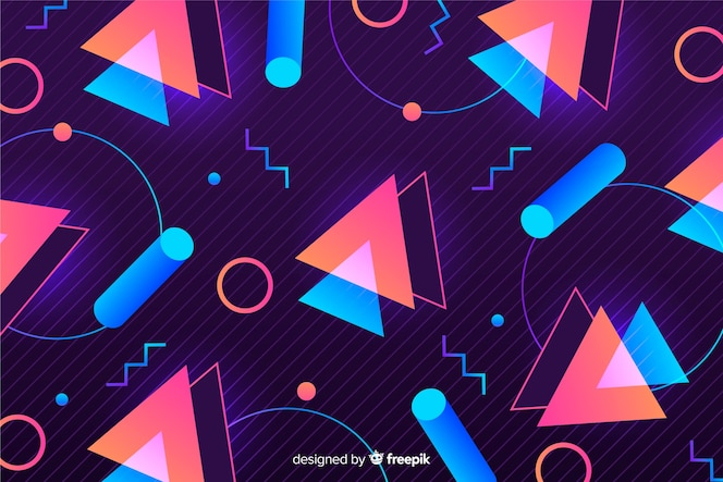 Retro geometric models background
