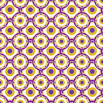 Retro geometric pattern with circles dots. seamless abstract vector texture.