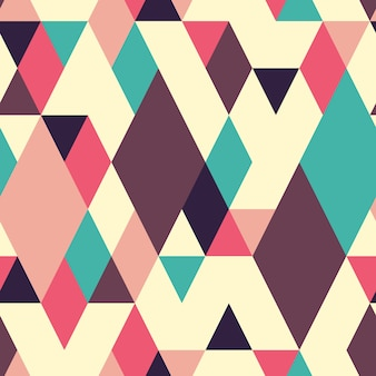 Retro geometric seamless pattern with rhombuses.