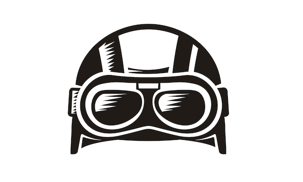 Retro goggle helmet vector