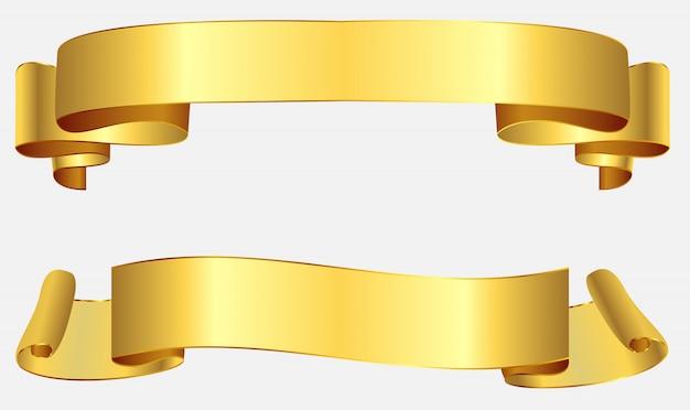 Retro golden ribbons