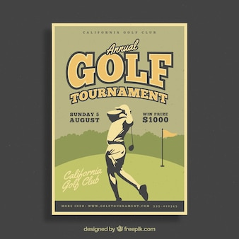 Retro golf tournament poster