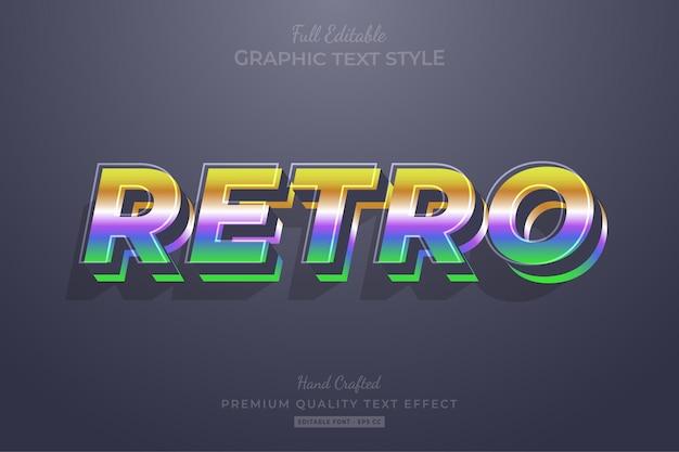 Ретро градиент винтаж редактируемый текстовый эффект стиль шрифта