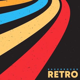 Ретро гранж-фон текстуры с винтажными цветными полосами. векторная иллюстрация.
