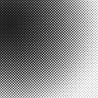 レトロなハーフトーンサークルの背景パターン