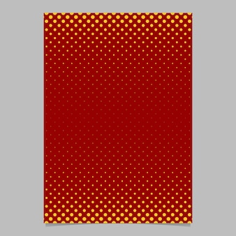 Retro halftone dot pattern brochure template - vector poster background illustration with circle pattern Free Vector