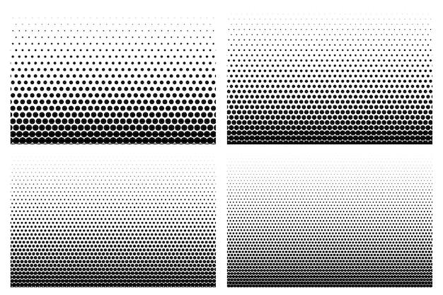 Retro halftone gradient set of four