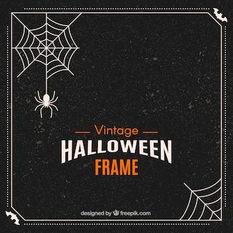 Retro halloween frame