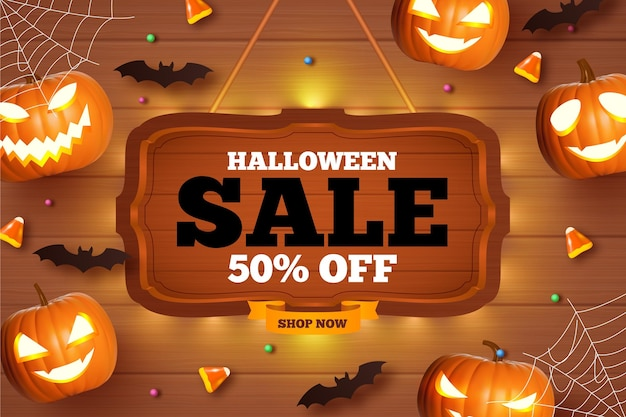 Ретро распродажа на хэллоуин