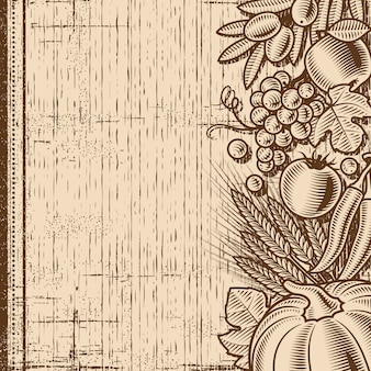 Retro harvest background brown