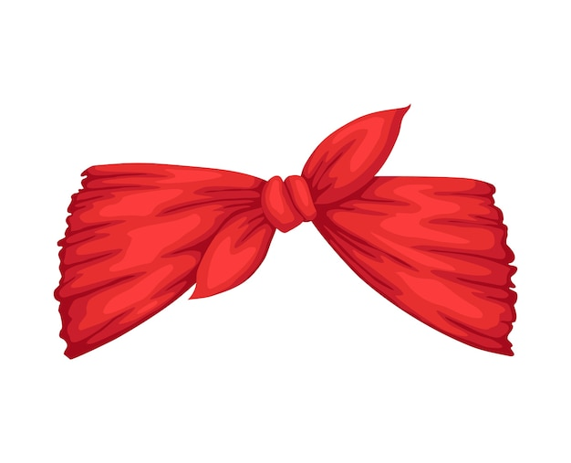 Retro headband for woman. red bandana for hairstyle. windy hair dressing with bow.