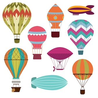 レトロな熱気球セット