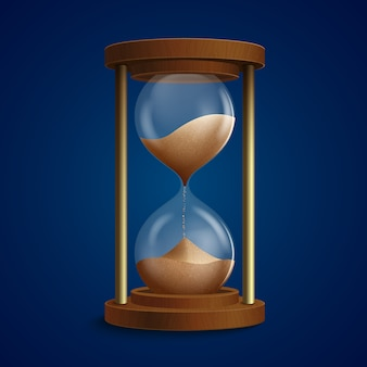Retro hourglass clock illustration