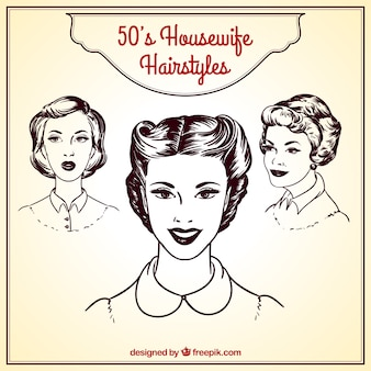Retro housewife hairstyles