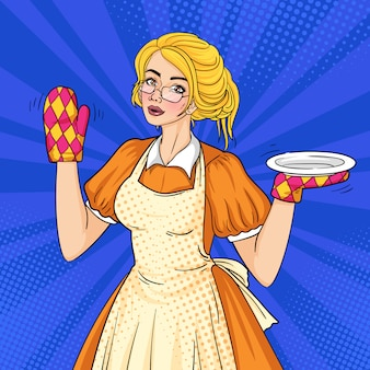 Retro housewife pop art