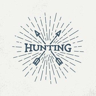 Retro hunting logo