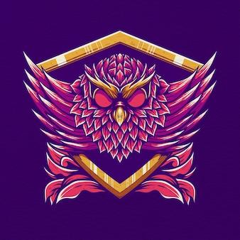 Ретро иллюстрация сова