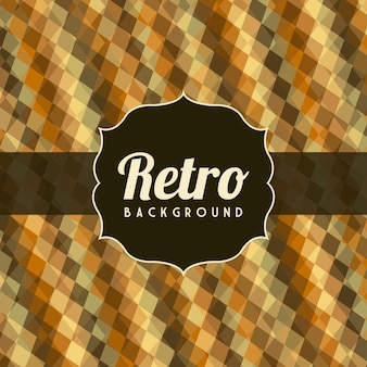 Retro illustration  over pattern background vector