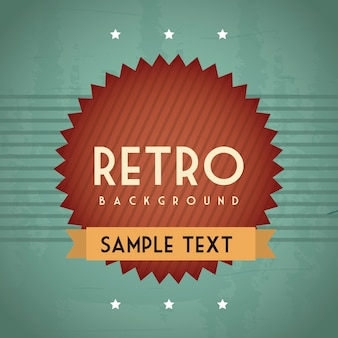 Retro illustration with ribbon over grunge background vector