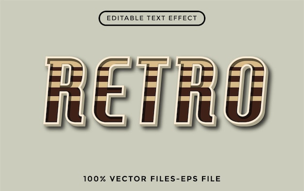 Retro - illustrator editable text effect premium vector