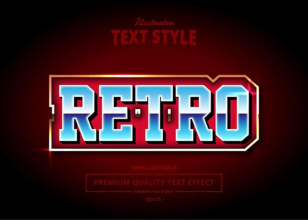 Retro illustrator text effect