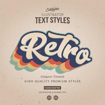 Retro illustrator text style
