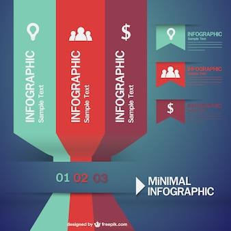 レトロなインフォグラフィックミニマルなデザイン
