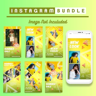 Retro instagram fashion story template