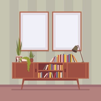 Retro interior with two frames