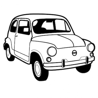 Retro italian car fiat 600