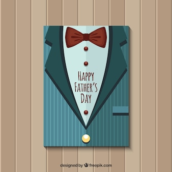 Retro jacket with bow tie for father's day