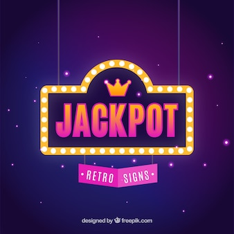 Retro jackpot background