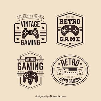 Retro joystick logo collection with elegant style