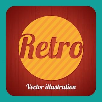 Retro label over blue background vector illustration