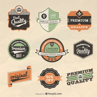 Retro label design vector Vector | Free Download