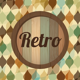Retro label over pattern background vector illustration