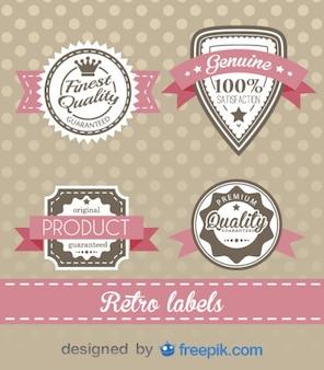 Retro labels design