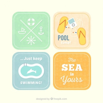 Retro labels for summer