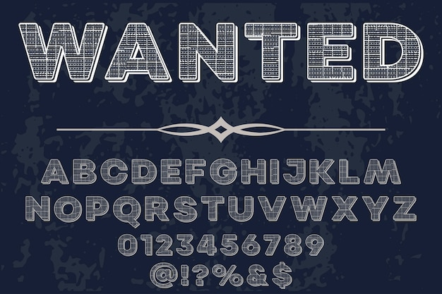 Retro lettering label design wanted